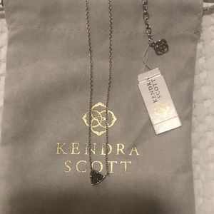 Kendra Scott Silver Perry Drusy Necklace RARE NEW